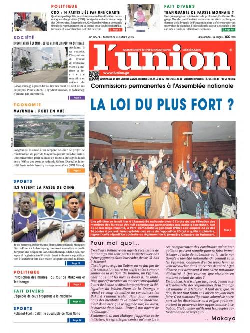 L'Union 20/03/2019