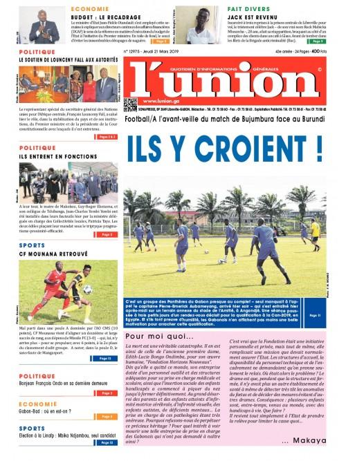 L'Union 21/03/2019