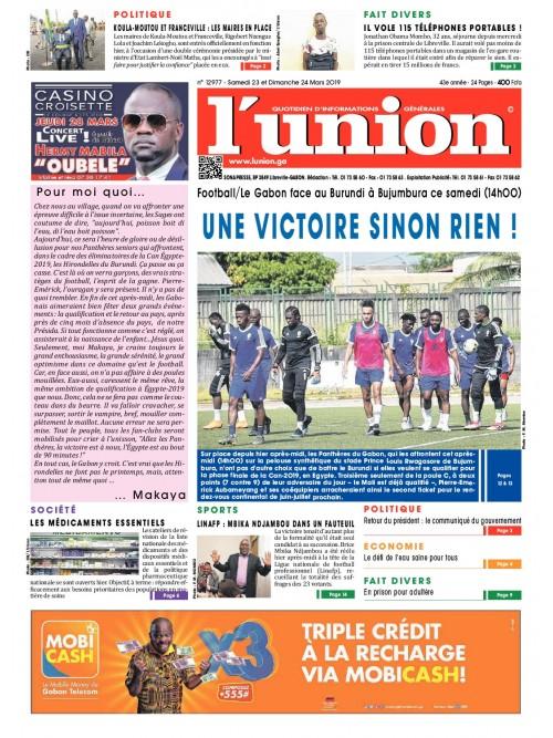 L'Union 23/03/2019