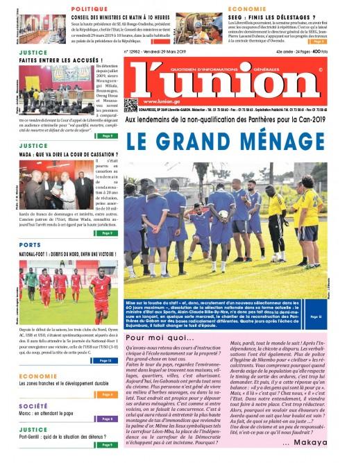 L'Union 29/03/2019