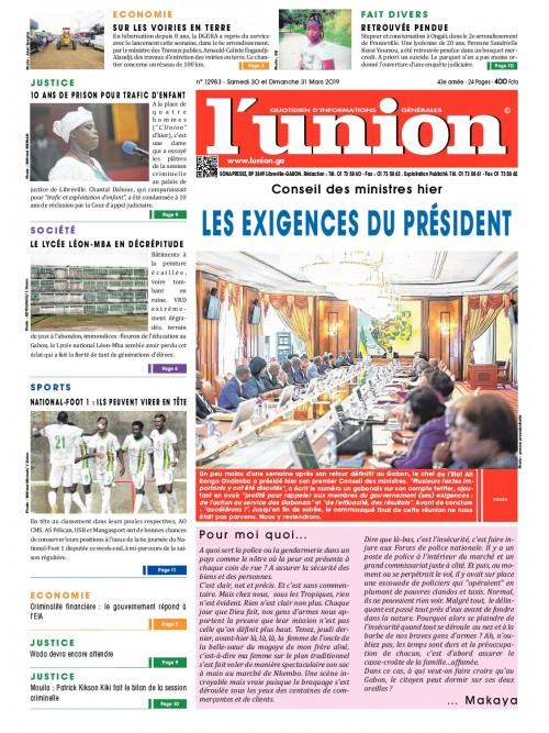 L'Union 30/03/2019
