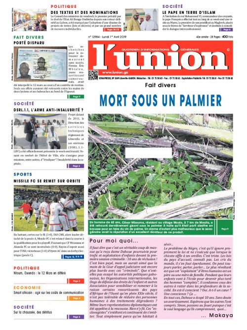 L'Union 01/04/2019
