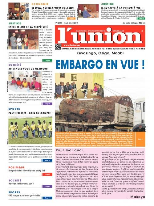 L'Union 04/04/2019