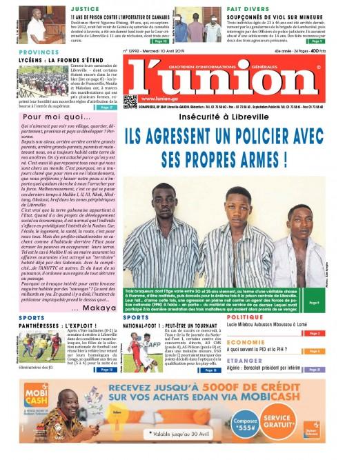 L'Union 10/04/2019