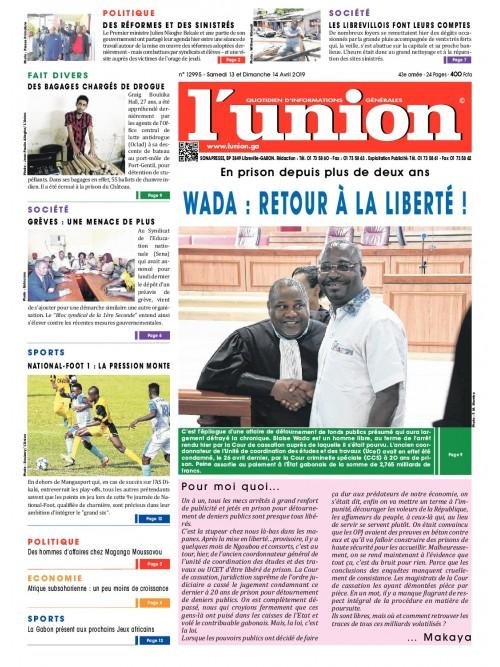 L'Union 13/04/2019