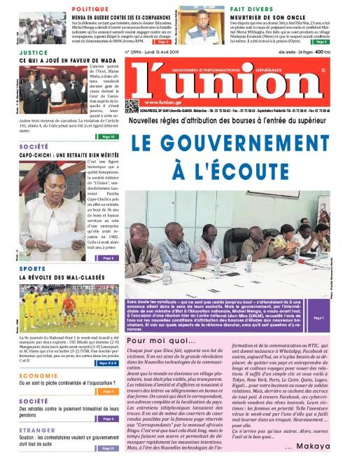L'Union 15/04/2019