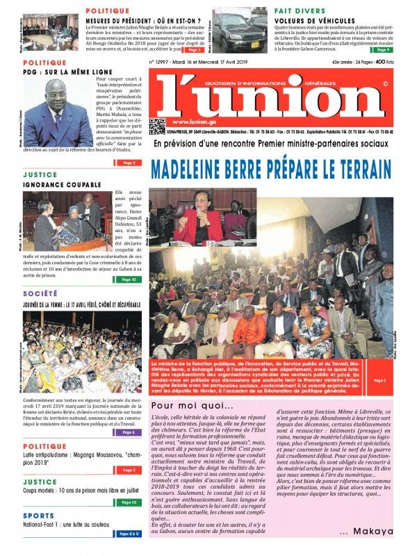 L'Union 16/04/2019