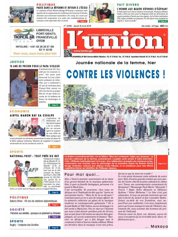 L'Union 18/04/2019