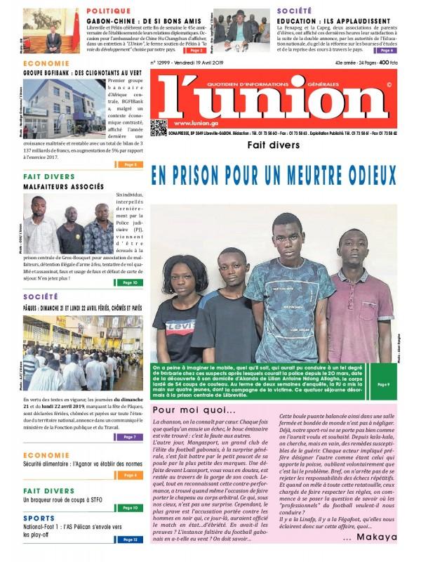 L'Union 19/04/2019
