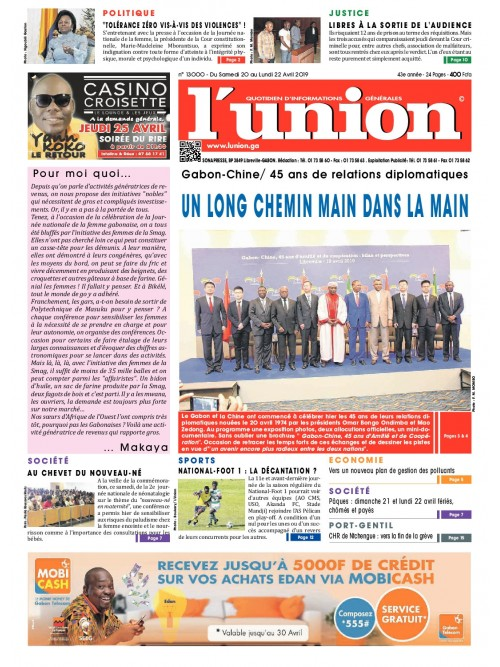 L'Union 20/04/2019