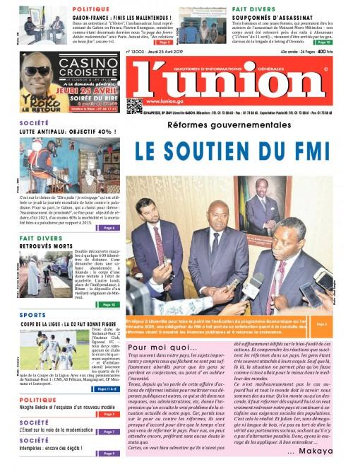 L'Union 25/04/2019