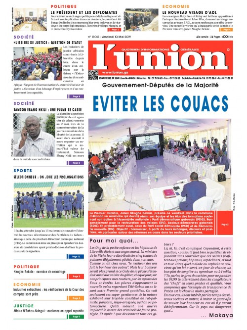 L'Union 10/05/2019