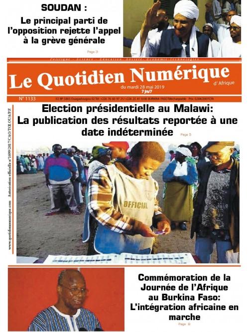 QUOTIDIEN NUMERIQUE D AFRIQUE  28/05/2019