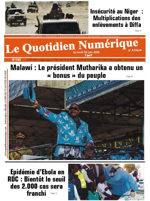 QUOTIDIEN NUMERIQUE D AFRIQUE  03/06/2019
