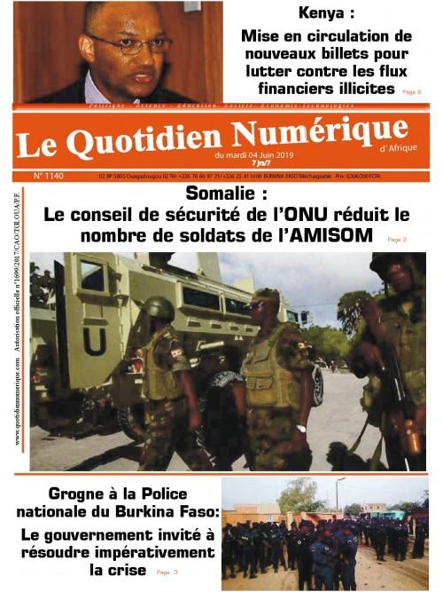 QUOTIDIEN NUMERIQUE D AFRIQUE  04/06/2019