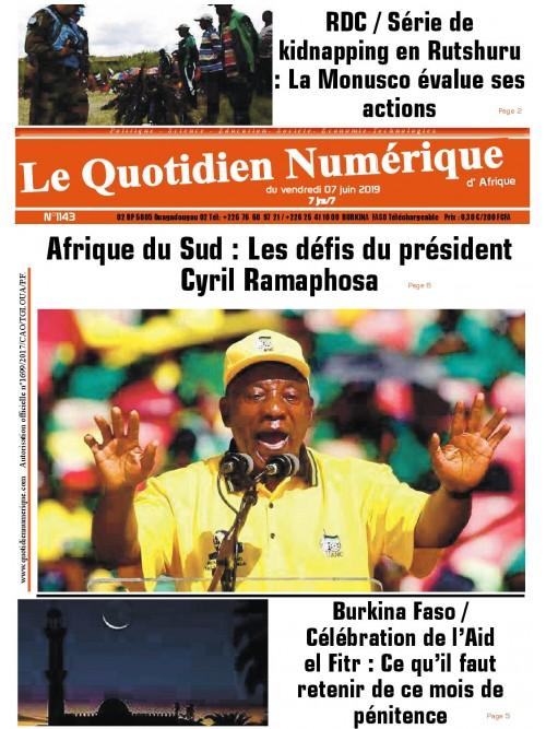 QUOTIDIEN NUMERIQUE D AFRIQUE  07/06/2019