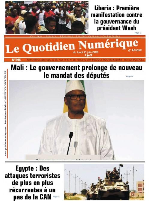 QUOTIDIEN NUMERIQUE D AFRIQUE  10/06/2019