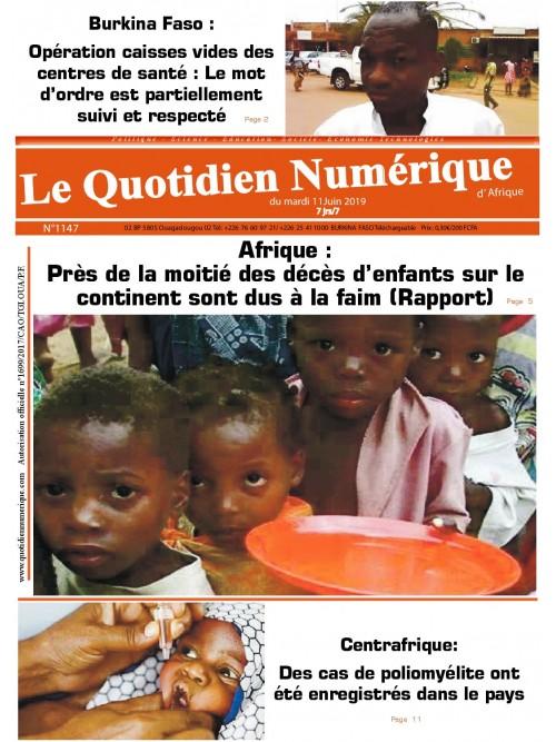 QUOTIDIEN NUMERIQUE D AFRIQUE  11/06/2019