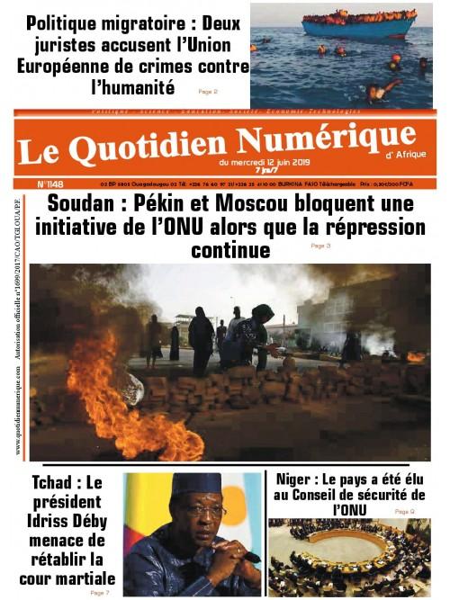 QUOTIDIEN NUMERIQUE D AFRIQUE  12/06/2019