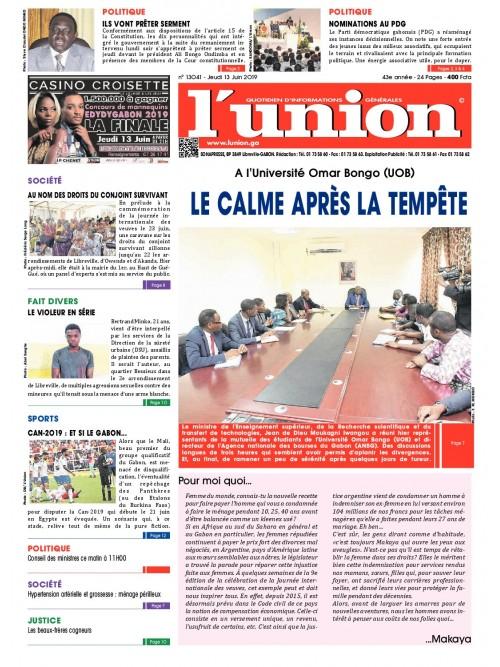L'Union 13/06/2019