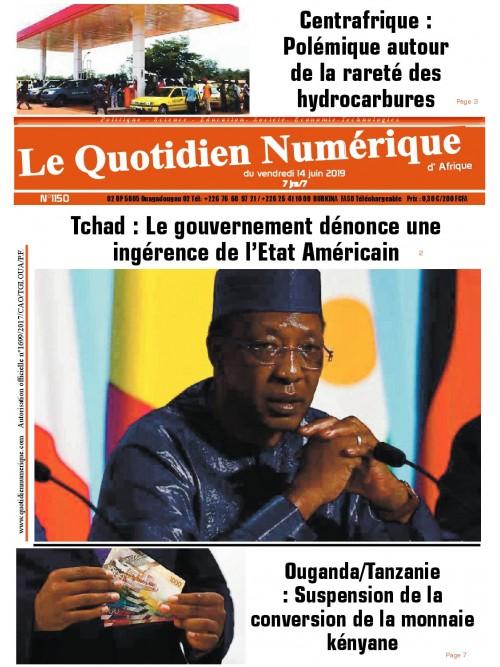 QUOTIDIEN NUMERIQUE D AFRIQUE  14/06/2019