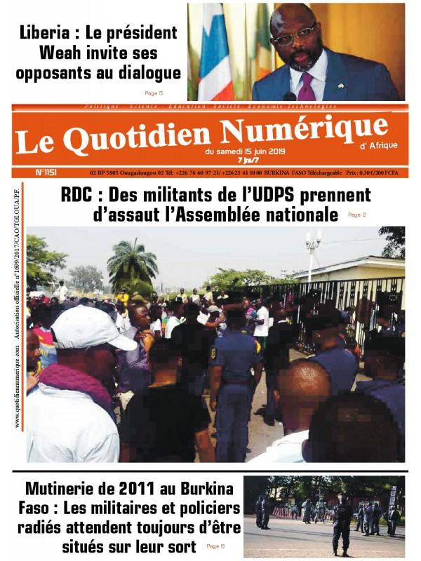 QUOTIDIEN NUMERIQUE D AFRIQUE  15/06/2019