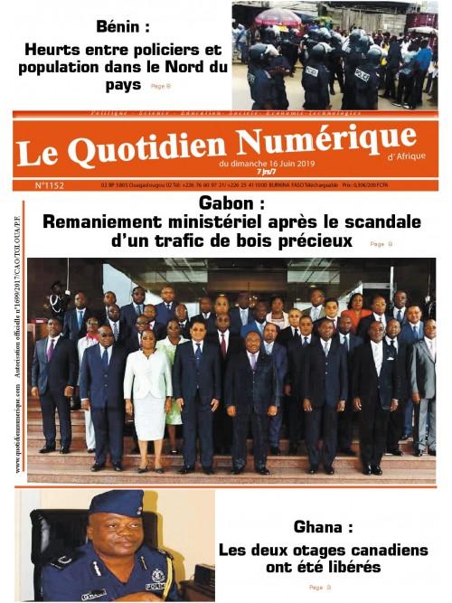 QUOTIDIEN NUMERIQUE D AFRIQUE  16/06/2019