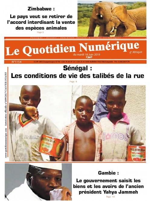 QUOTIDIEN NUMERIQUE D AFRIQUE  18/06/2019