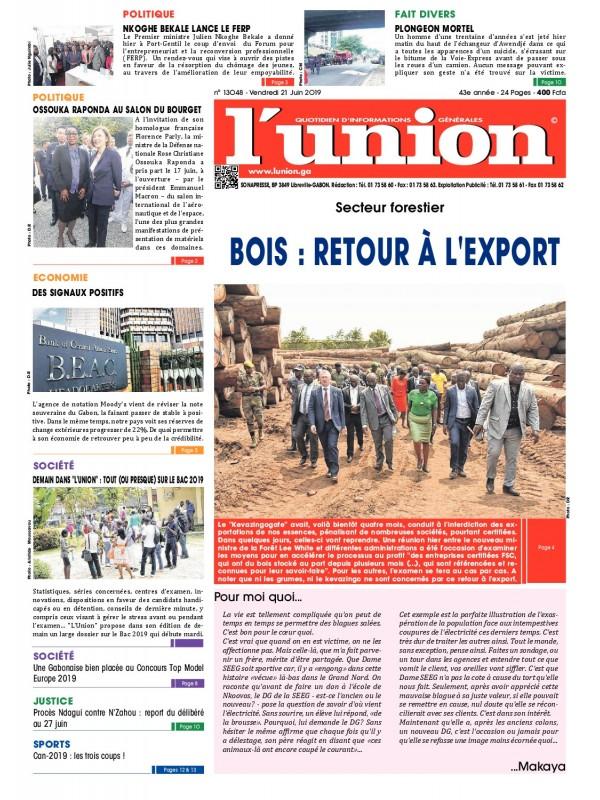 L'Union 21/06/2019