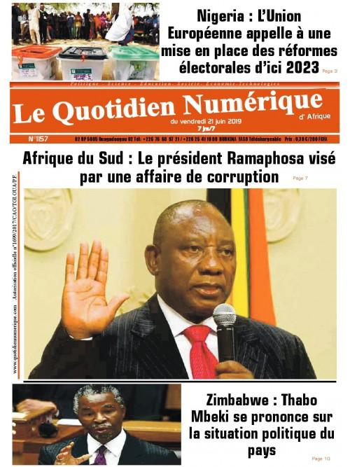 QUOTIDIEN NUMERIQUE D AFRIQUE  21/06/2019