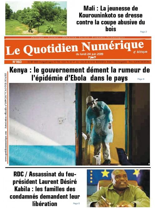 QUOTIDIEN NUMERIQUE D AFRIQUE  24/06/2019
