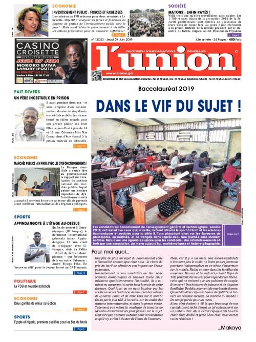 L'Union 27/06/2019
