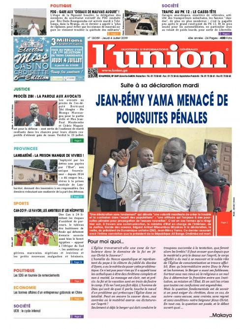 L'Union 04/07/2019