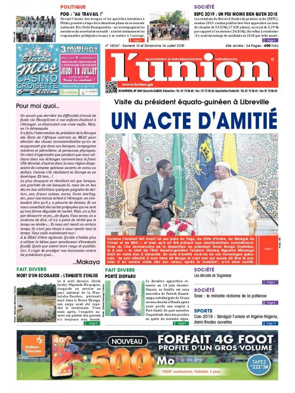 L'Union 13/07/2019