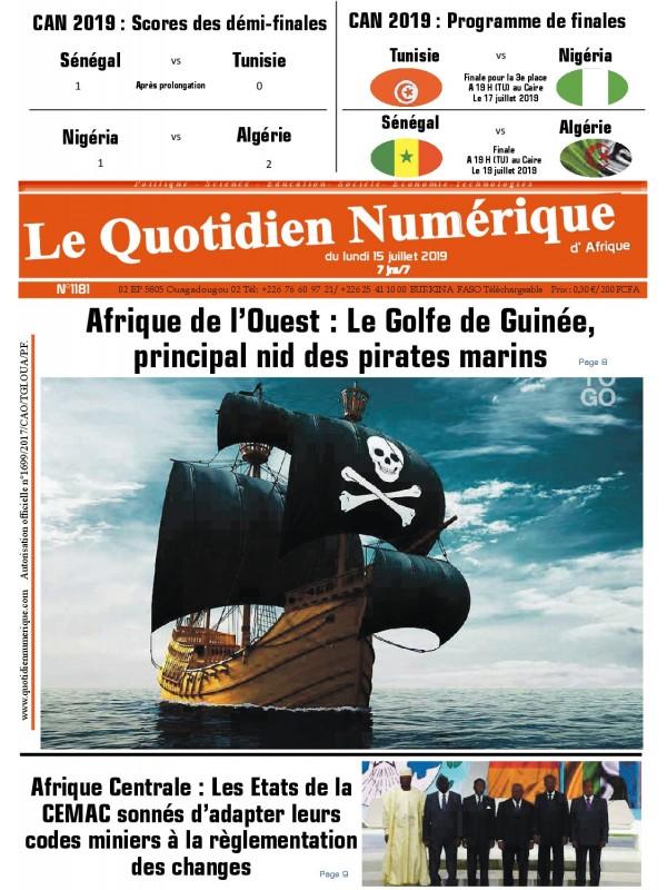 QUOTIDIEN NUMERIQUE D AFRIQUE  15/07/2019
