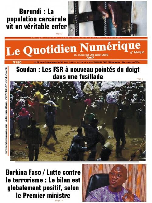 QUOTIDIEN NUMERIQUE D AFRIQUE  24/07/2019