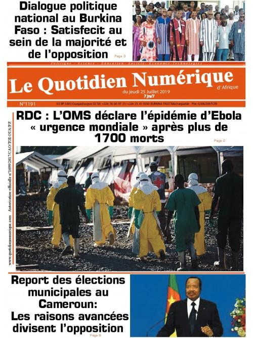 QUOTIDIEN NUMERIQUE D AFRIQUE  25/07/2019