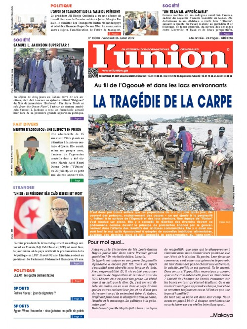 L'Union 26/07/2019