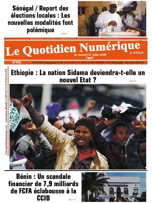 QUOTIDIEN NUMERIQUE D AFRIQUE  27/07/2019