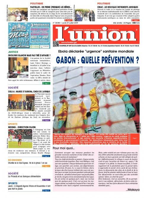 L'Union 29/07/2019