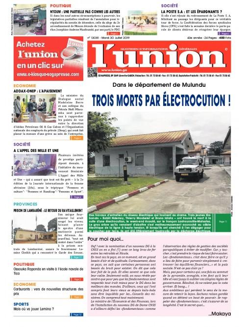 L'Union 30/07/2019