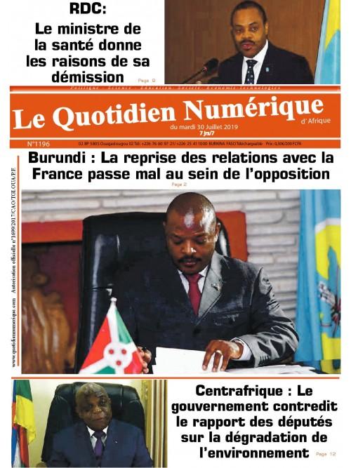 QUOTIDIEN NUMERIQUE D AFRIQUE  30/07/2019