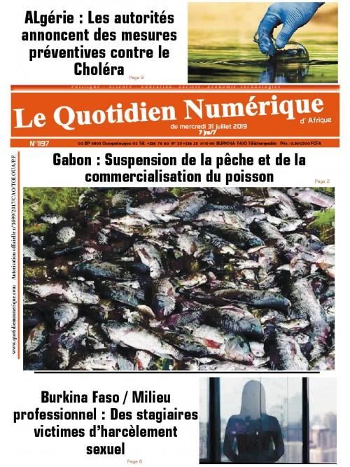QUOTIDIEN NUMERIQUE D AFRIQUE  31/07/2019