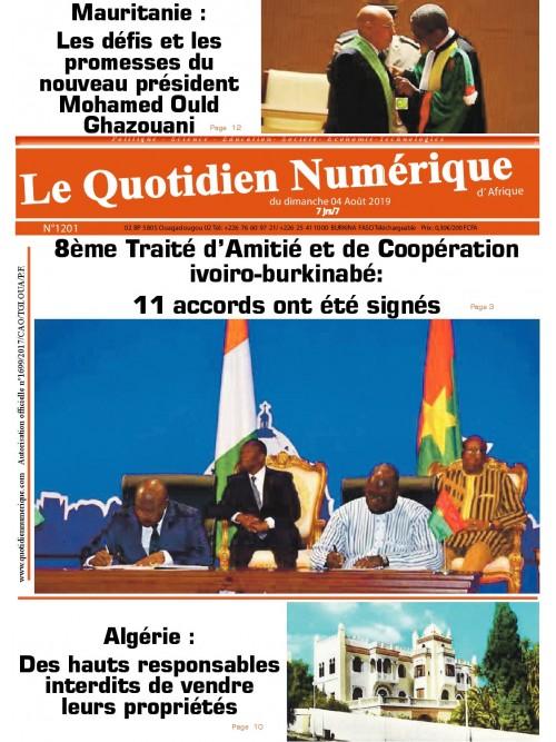 QUOTIDIEN NUMERIQUE D AFRIQUE  04/08/2019