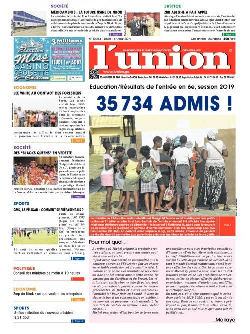 L'Union 01/08/2019