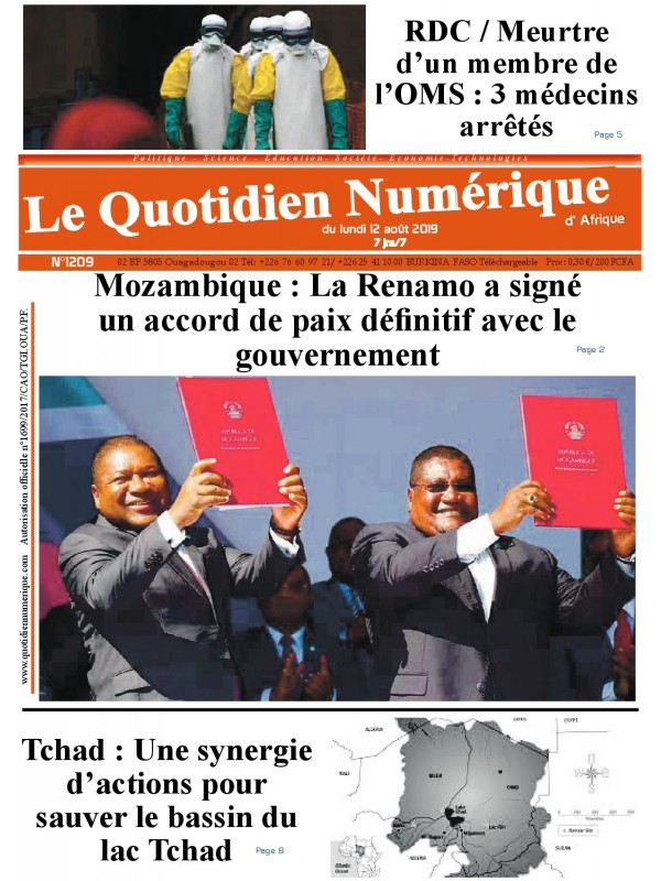 QUOTIDIEN NUMERIQUE D AFRIQUE  12/08/2019