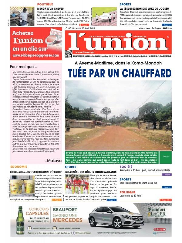 L'Union 13/08/2019