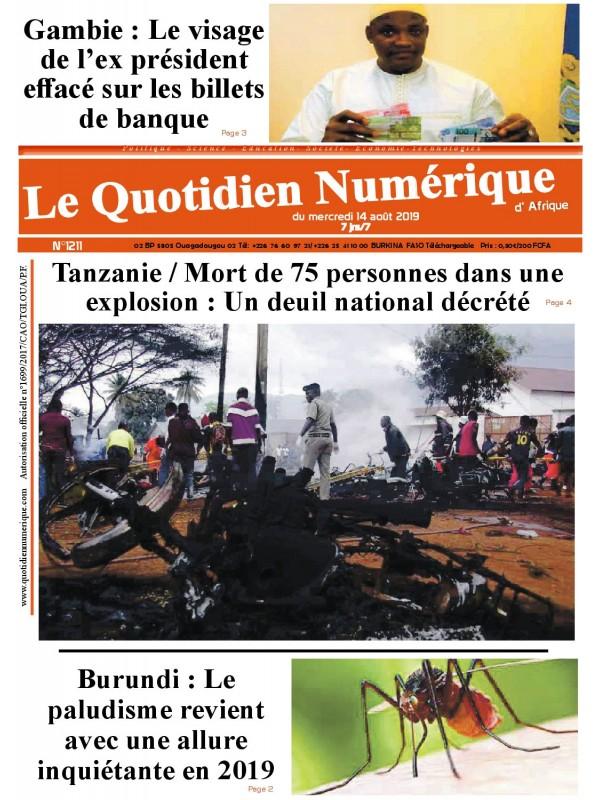QUOTIDIEN NUMERIQUE D AFRIQUE  14/08/2019