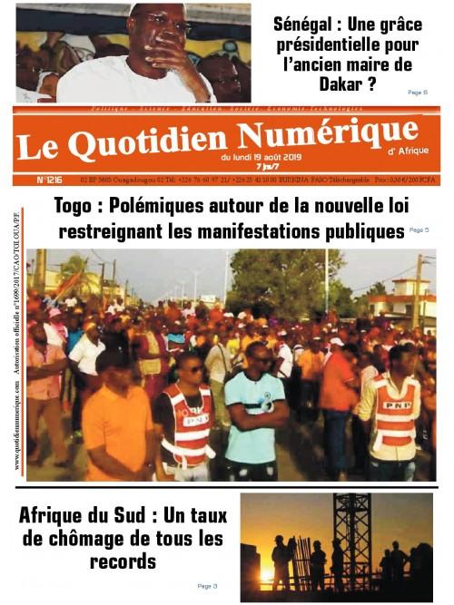 QUOTIDIEN NUMERIQUE D AFRIQUE  19/08/2019