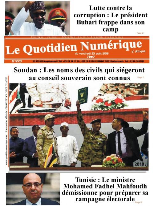 QUOTIDIEN NUMERIQUE D AFRIQUE  23/08/2019